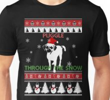 Merry Christmas - Puggle Through The Snow Unisex T-Shirt