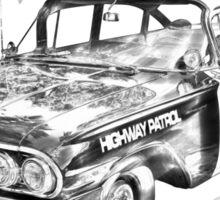1960 Chevrolet Biscayne Police Car Illustration Sticker