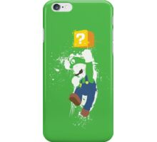 Luigi Paint Splatter Shirt iPhone Case/Skin
