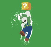 Luigi Paint Splatter Shirt Kids Tee