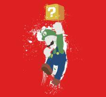 Luigi Paint Splatter Shirt Kids Tee