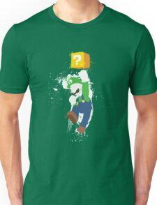 Luigi Paint Splatter Shirt Unisex T-Shirt