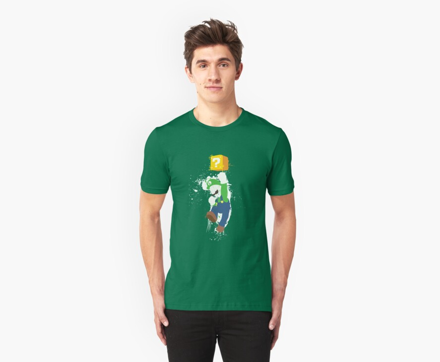 Luigi Paint Splatter Shirt by thedailyrobot