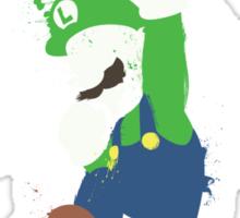 Luigi Paint Splatter Shirt Sticker