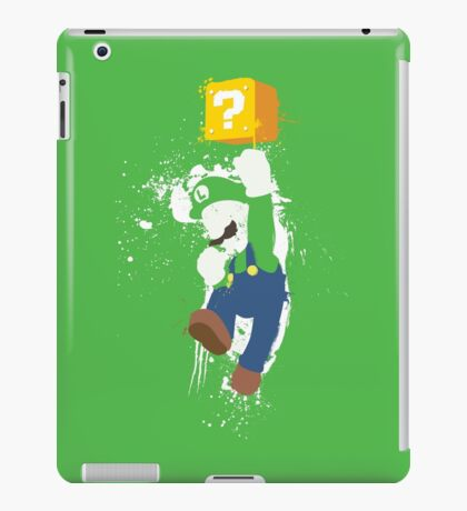 Luigi Paint Splatter Shirt iPad Case/Skin