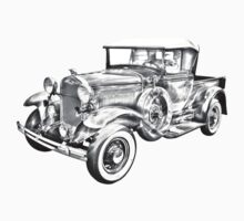1930 Ford Model A Pickup Truck Illustration Kids Clothes