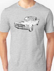 1966 Ford Mustang Fastback Illustration Unisex T-Shirt