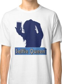 Funny Unique and Cool Blue and Gold Selfie Queen T-shirt Classic T-Shirt
