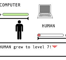 Human Grew to Level 7...Graphic Tee by DevilsAdv