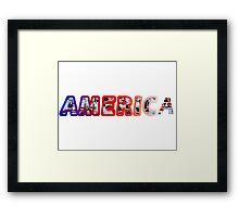 America! Framed Print