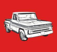 1965 Chevrolet Pickup Truck Illustration One Piece - Short Sleeve