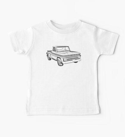 1965 Chevrolet Pickup Truck Illustration Baby Tee