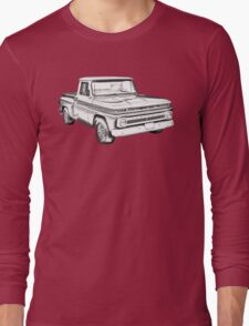 1965 Chevrolet Pickup Truck Illustration Long Sleeve T-Shirt
