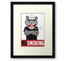 No Smoking. Hamster Framed Print