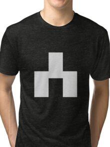 White Bear Symbol - Black Mirror Tri-blend T-Shirt