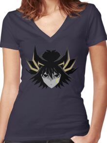 Signer Fudo - Yu-Gi-OH 5DS T-Shirt Women's Fitted V-Neck T-Shirt