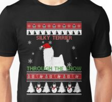 Merry Christmas - Silky Terrier Through The Snow Unisex T-Shirt