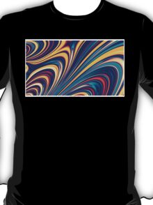 Color and Form - Curved Waves Flowing Lines  T-Shirt