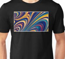 Color and Form - Curved Waves Flowing Lines  Unisex T-Shirt