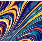 Color and Form - Curved Waves Flowing Lines  by Leah McNeir