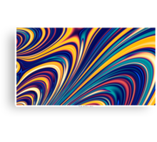 Color and Form - Curved Waves Flowing Lines  Canvas Print
