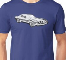 1980 Pontiac Trans Am Muscle Car Illustration Unisex T-Shirt
