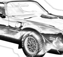 1980 Pontiac Trans Am Muscle Car Illustration Sticker