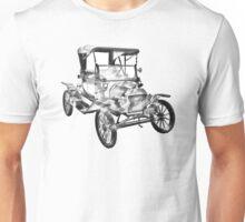 1914  Model T Ford Antique Car Illustration Unisex T-Shirt