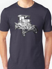 1914  Model T Ford Antique Car Illustration T-Shirt