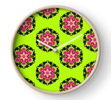 Green Hippie Clock