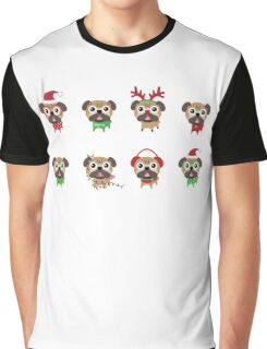 MERRY PUGMAS Graphic T-Shirt
