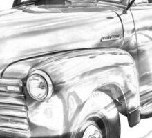 1950 Chevrolet Flat Bed Pickup Truck Illustration Sticker