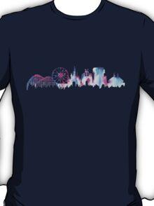 Disneyland California Watercolor Skyline Silhouette Illustration T-Shirt