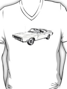 1970 Dodge Charger R/t Muscle Car Illustration T-Shirt