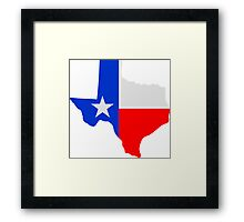 State of Texas Lone Star  Framed Print