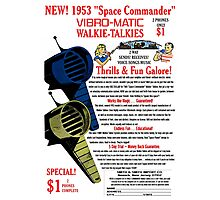 Space Commander Walkie Talkies Photographic Print