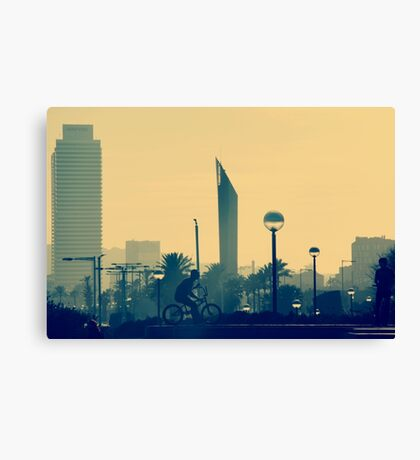 Afternoon in Barcelona Canvas Print