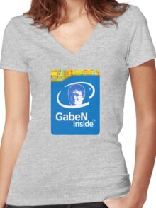 Lord GabeN Inside Women's Fitted V-Neck T-Shirt