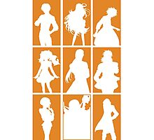 Tales of Xillia 2 - Character Roster (Orange) Photographic Print