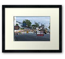 Signage Overload Framed Print