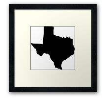 State of Texas Framed Print