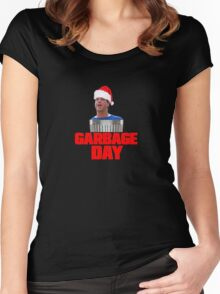 Garbage Day Christmas - Silent Night Movie T-Shirt Women's Fitted Scoop T-Shirt