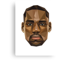 Lebron's face in the shape of shapes, pretty shapy eh? Canvas Print