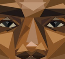 Lebron's face in the shape of shapes, pretty shapy eh? Sticker