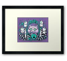 A Seance With Madame Meow-Meow, Gifted Medium Framed Print