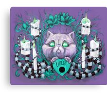 A Seance With Madame Meow-Meow, Gifted Medium Canvas Print