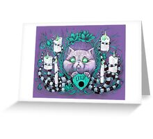 A Seance With Madame Meow-Meow, Gifted Medium Greeting Card