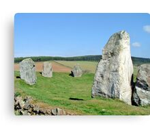 Easter Aquhorthies Stone Circle Canvas Print
