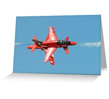 Red Arrows - Opposition Barrel Roll Greeting Card
