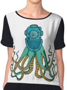 Space Octopus Diver Chiffon Top